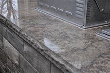 Polished outdoor kitchen stone countertop
