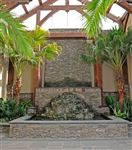Pennsylvania Fieldstone water feature with armourstone waterfall