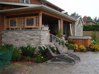 Exterior house wall in Wiarton natural bed building stone