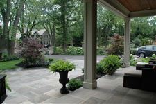 India Slate Grey square cut flagstone patio and porch