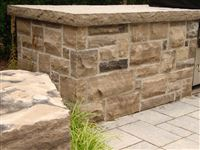 Ebel natural bed building stone outdoor kitchen with custom Ebel Beige countertop