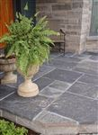 Ebel Black square cut flagstone front entrance patio