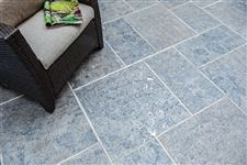 India Silver Grey square cut flagstone patio