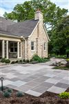 India Slate Grey square cut flagstone patio and walkway