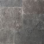 Ebel Black square cut flagstone paver swatch