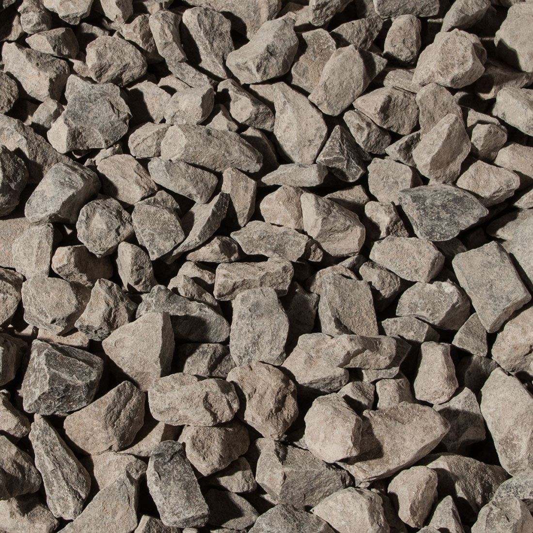 Clear Gravel construction aggregate