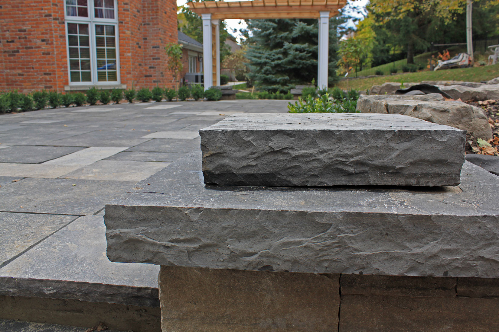 Natural Stone Pillars Caps : Ebel black pillar caps pier column