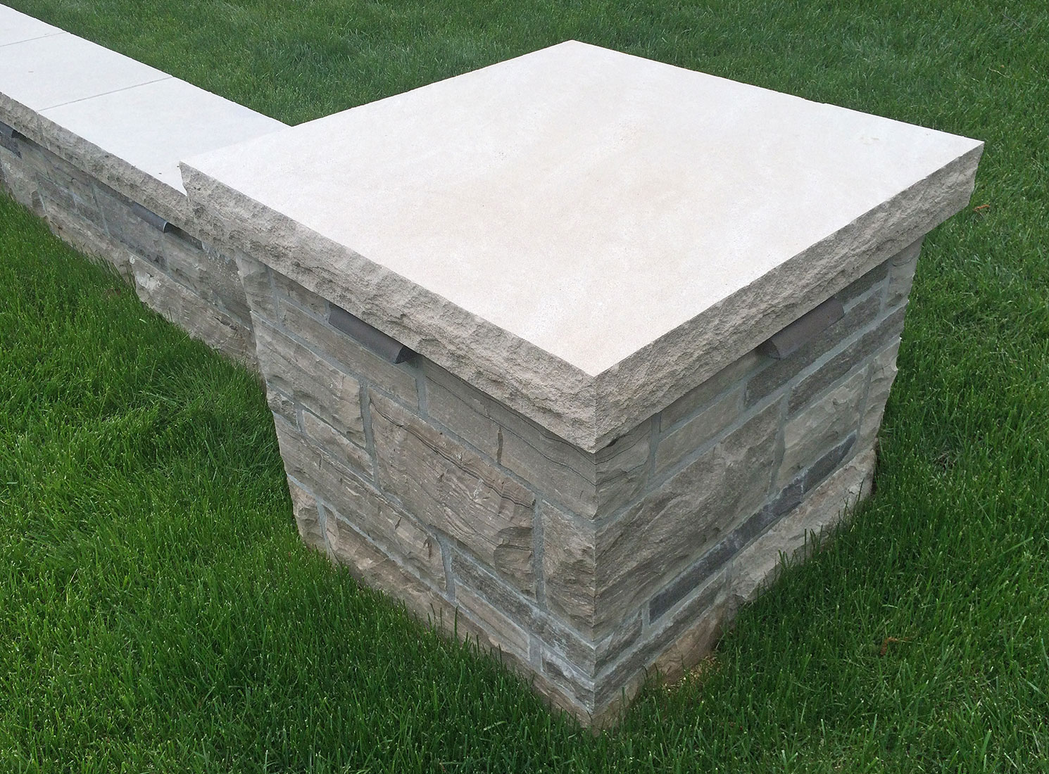 Natural Stone Pillars Caps : Indiana limestone pillar caps pier column