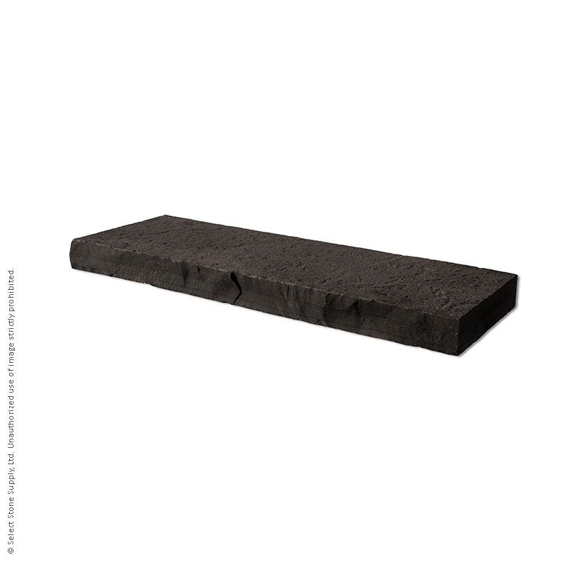 A piece of Ebel Black natural stone coping