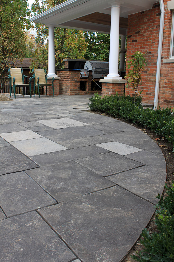 Flagstone Patio Pavers : Ebel black square cut flagstone pavers