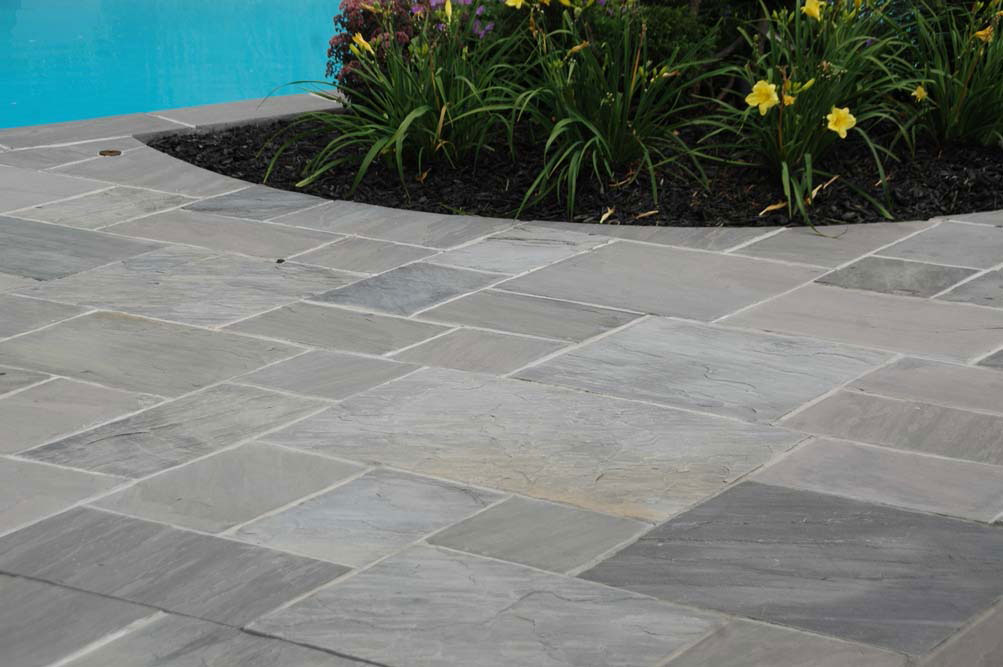 Sandstone patio graphite sandstone paving in sturminster Flagstone pavers around pool