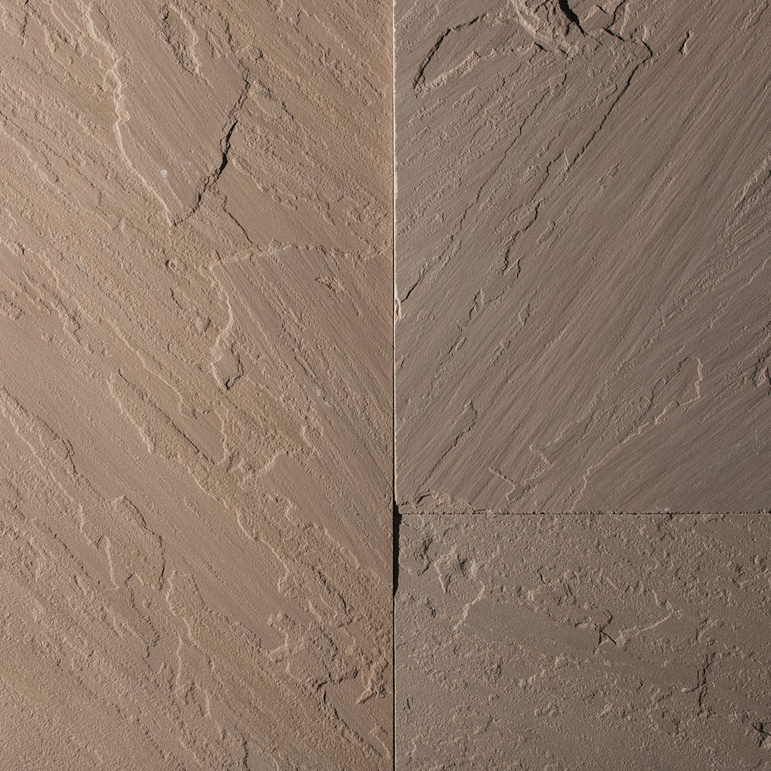 India Brown natural square cut flagstone swatch