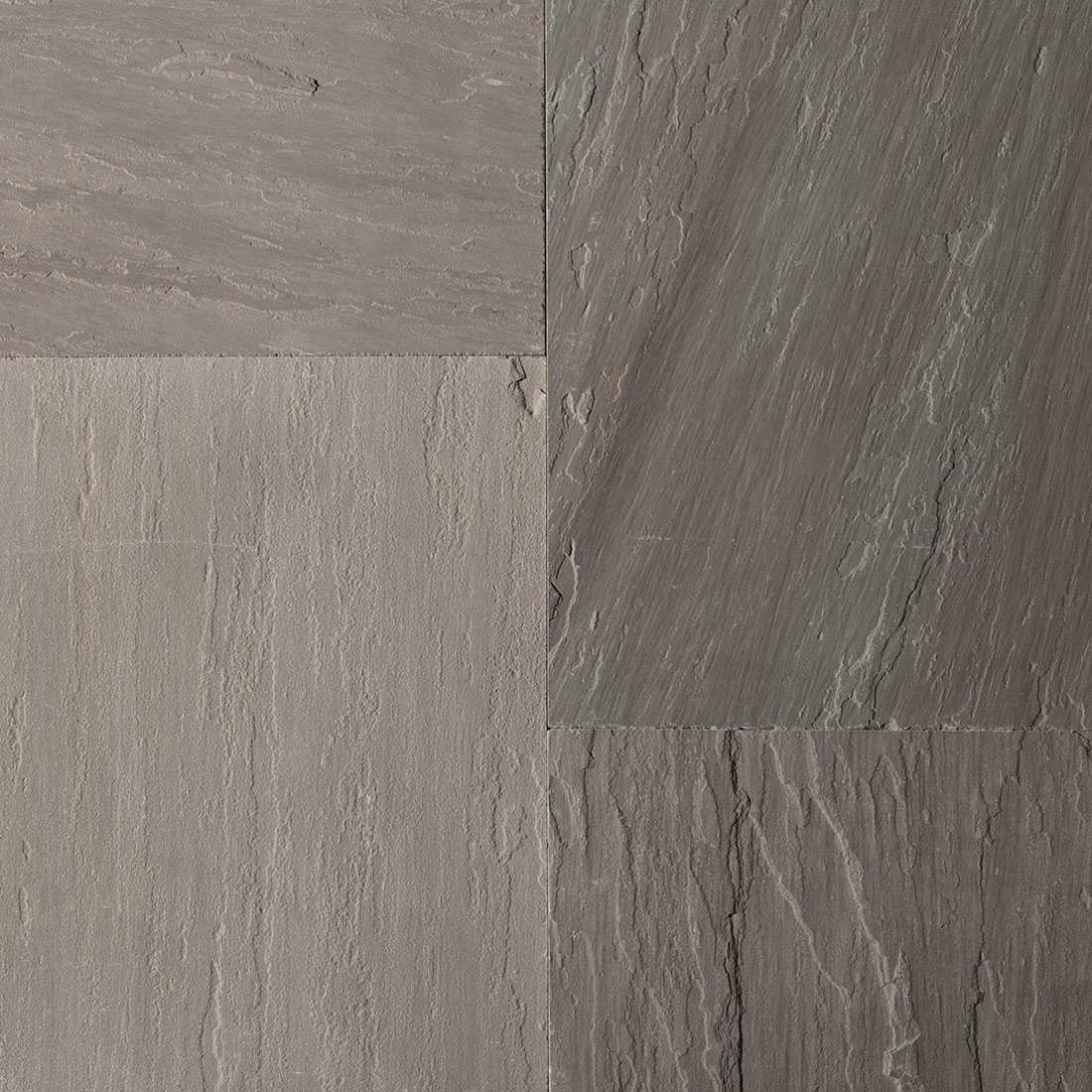 India Slate Grey square cut flagstone paver swatch