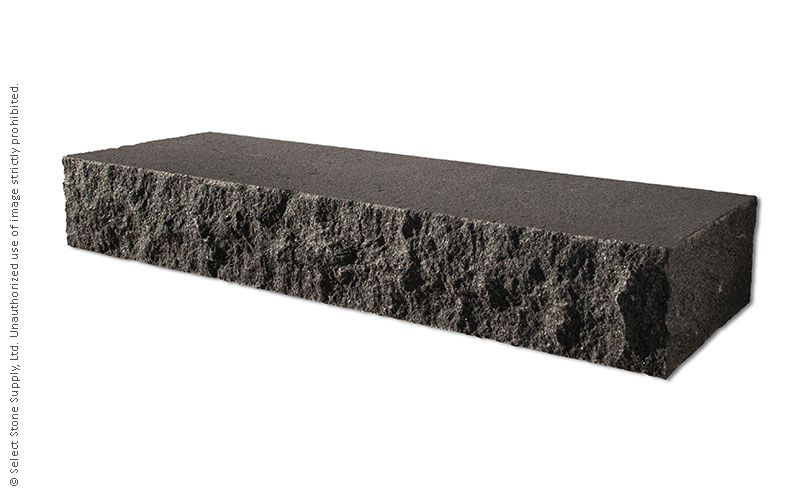 An Imported Black Granite natural stone step