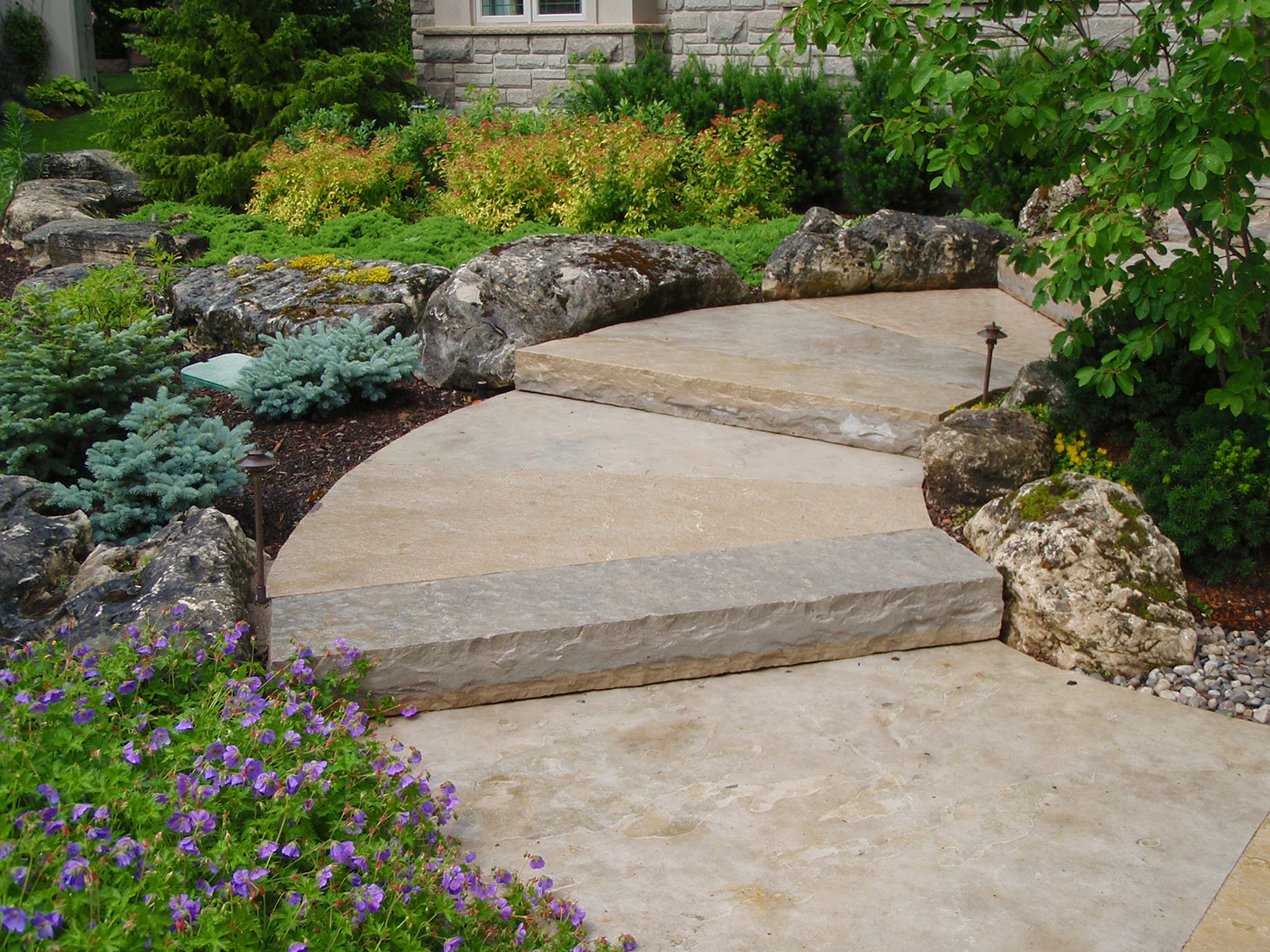 Natural Building Stone Steps : Wiarton guillotined step natural stone stair treads