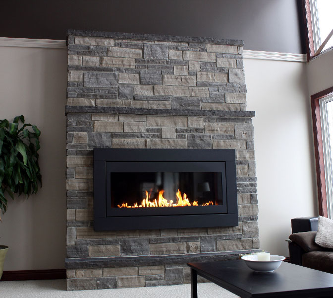 Interior Stone Wall Fireplace Prefab Fieldstone Fireplaces: Natural Stone Veneer