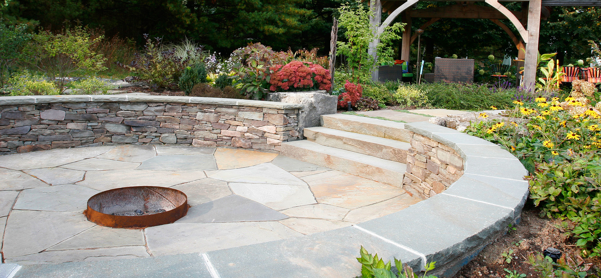 Fieldstone Rock Patios : Pennsylvania fieldstone wall stone dry walls